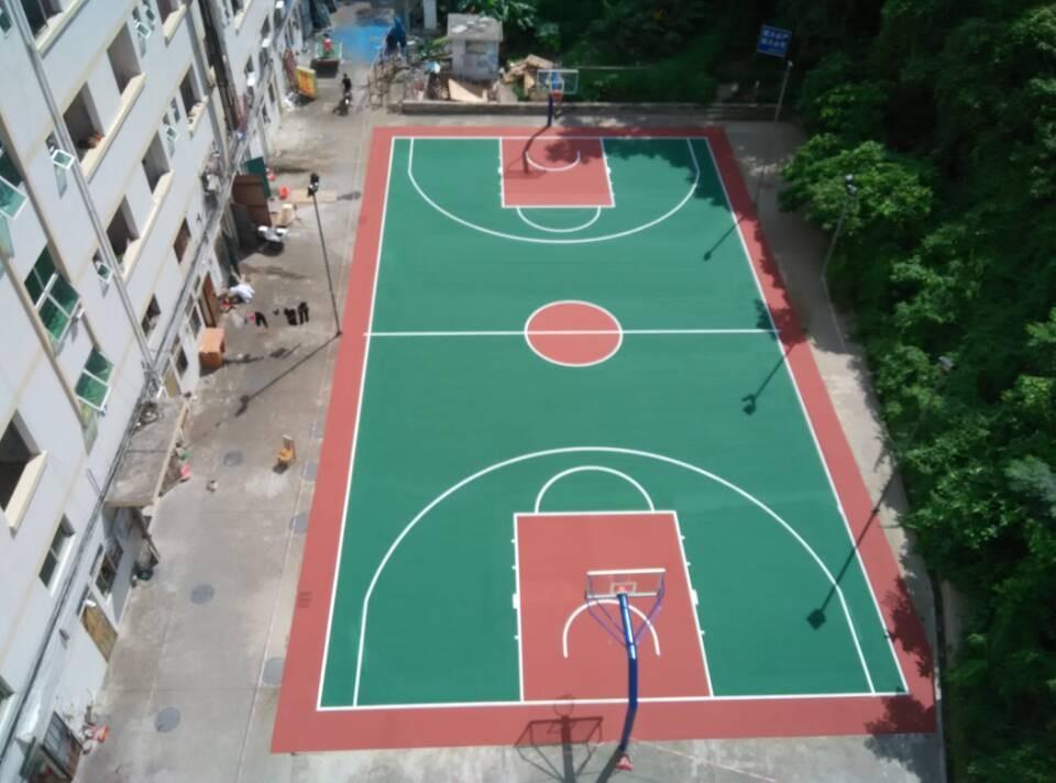 珠海联邦制药工厂丙烯酸篮球场