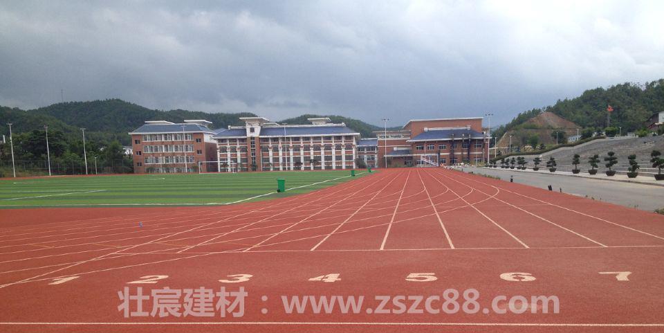 小学400米透气型塑胶跑道施工效果