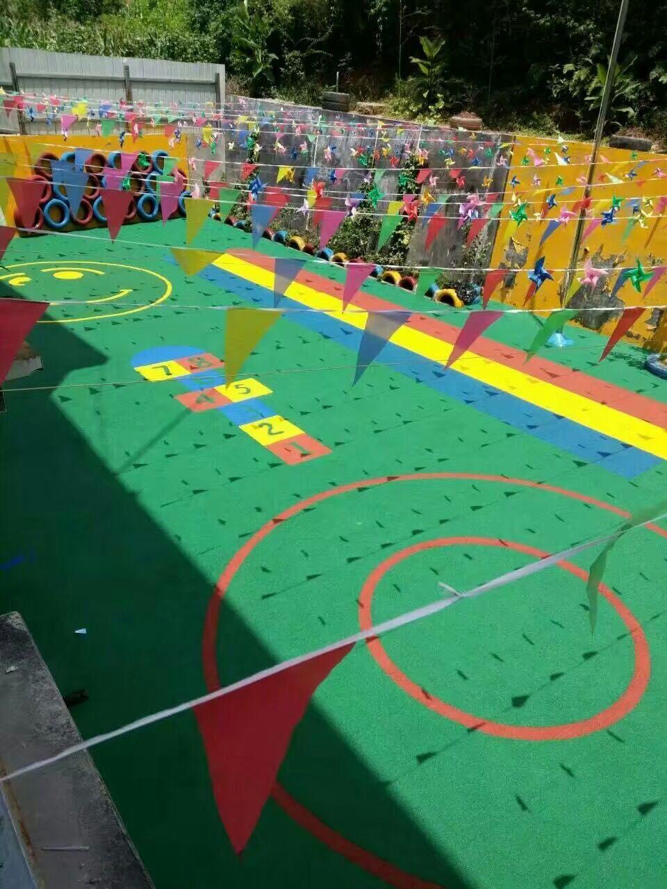 幼儿园外墙彩绘图片几何
