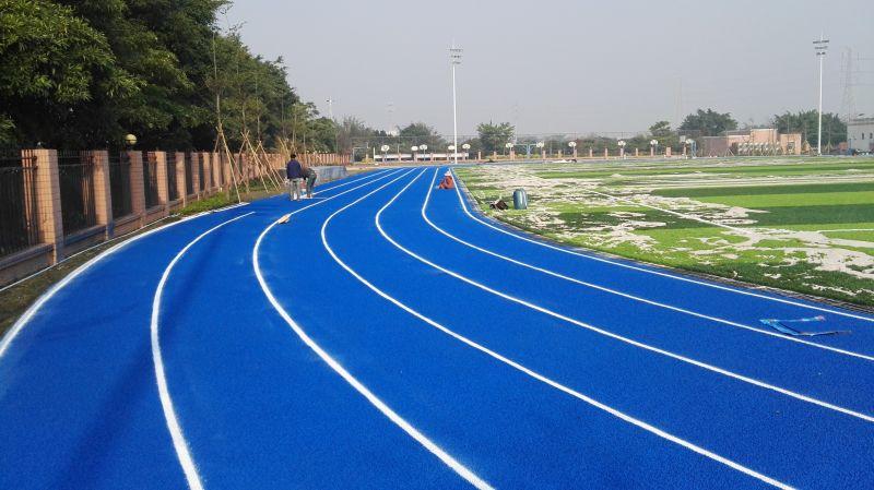 珠海金洲小学蓝色透气型跑道