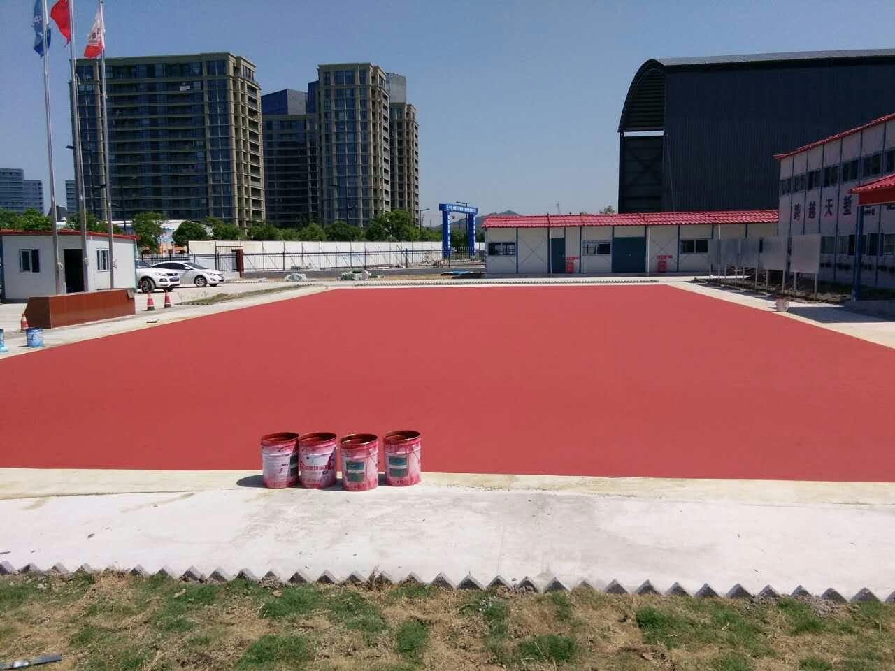 舟山新城大桥改扩建项目部篮球场
