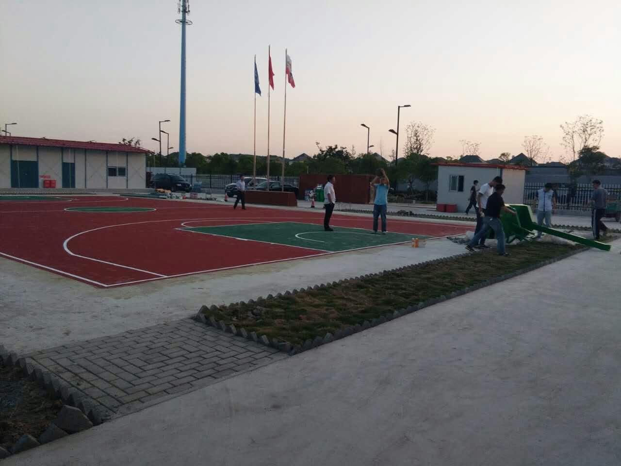 项目部篮球场施工