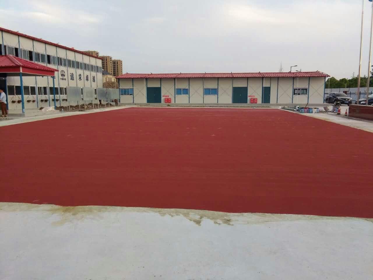 篮球场面漆施工