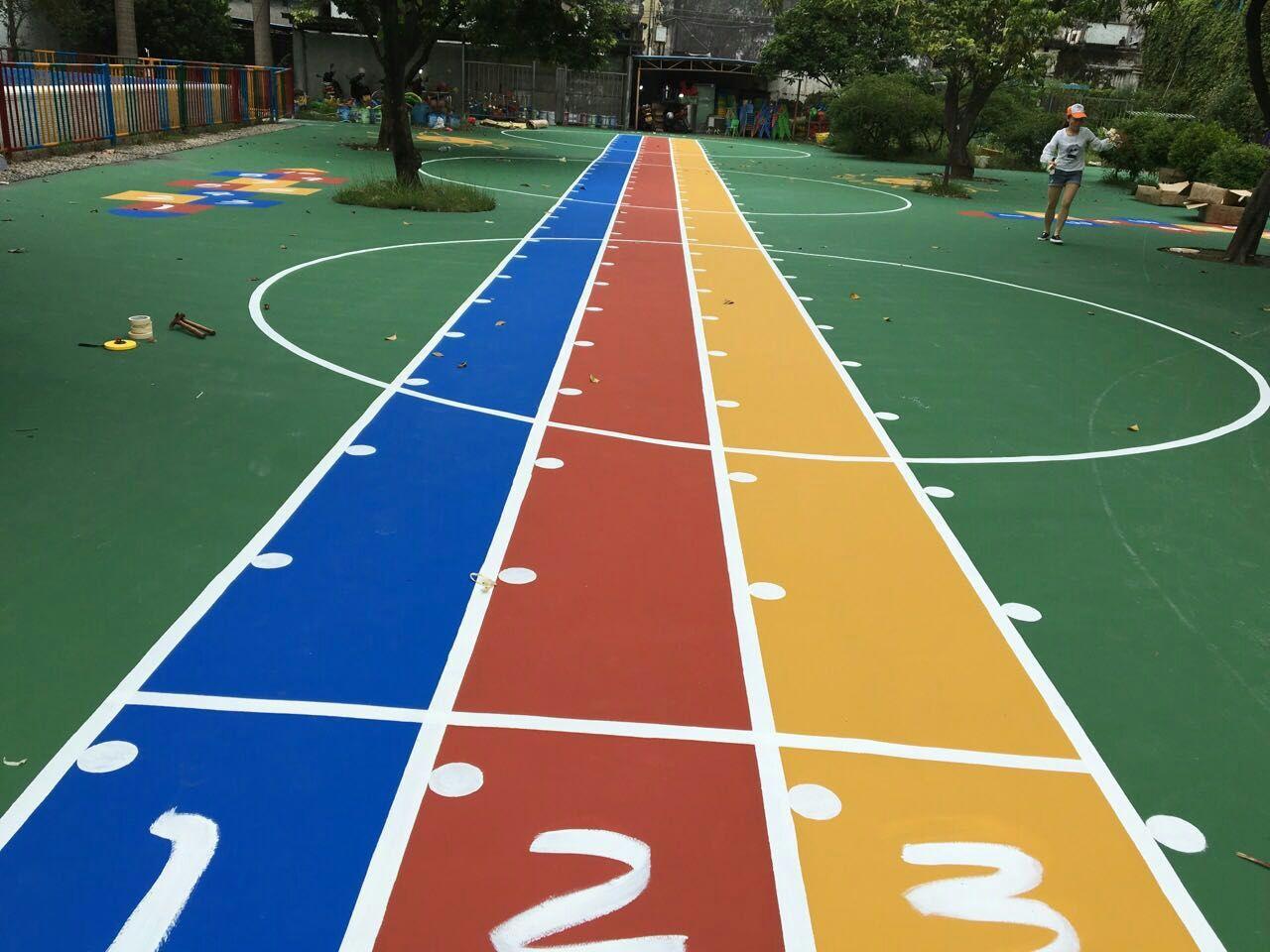 洼涂 幼儿园地面专用 水性丙烯酸涂料 彩色墙地面材料