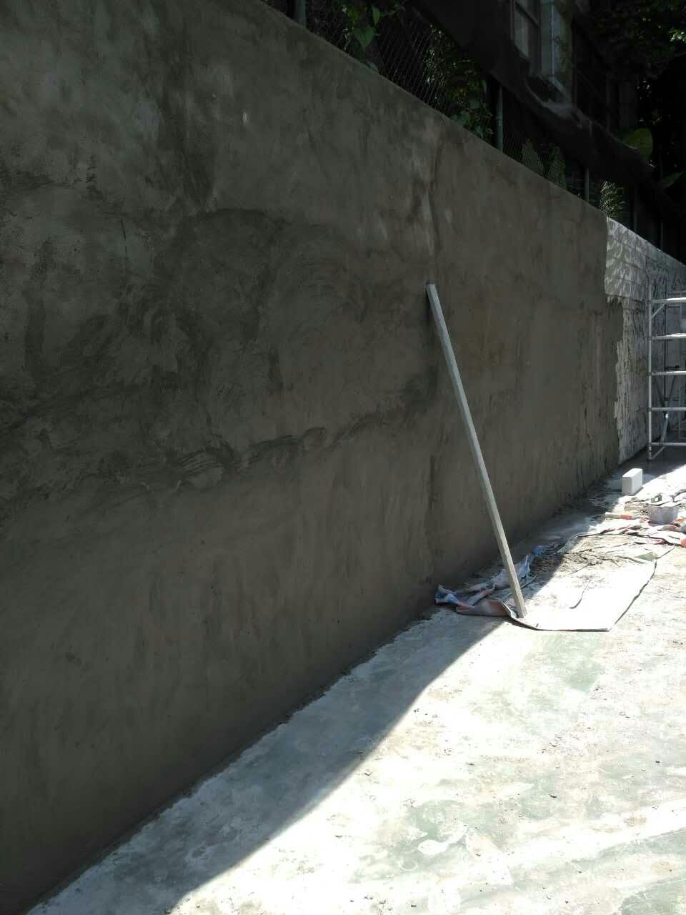 网球场练习墙施工