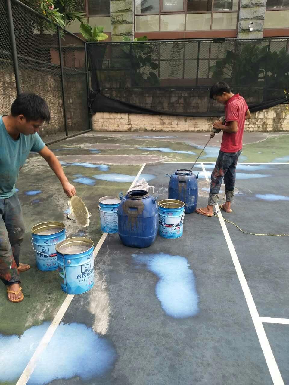 丙烯酸网球场材料施工