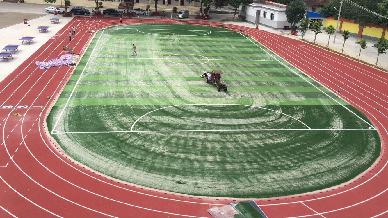 运动场人造草坪冲砂