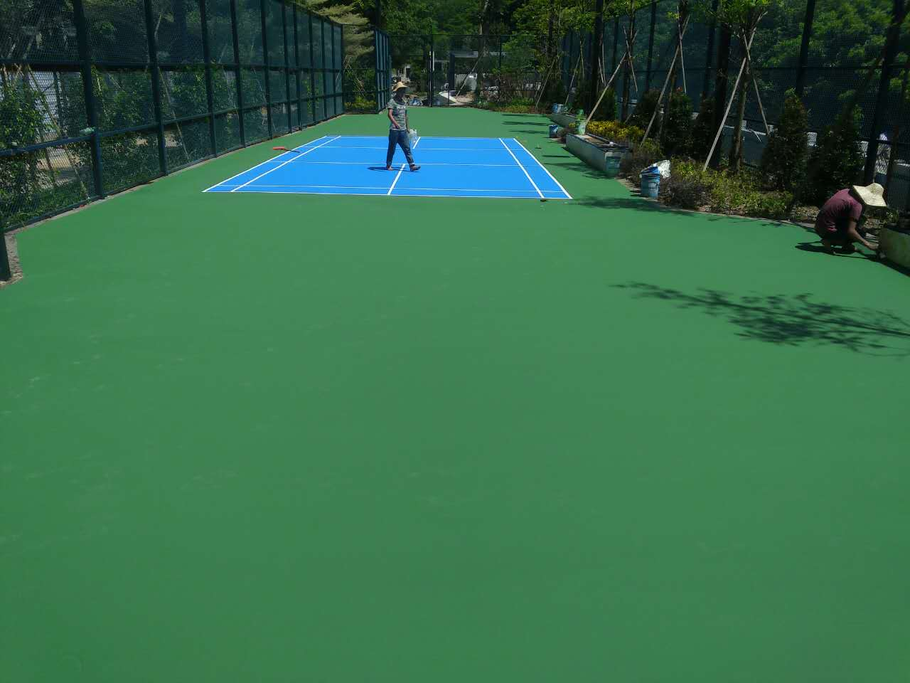 珠海景山文化中心羽毛球场施工