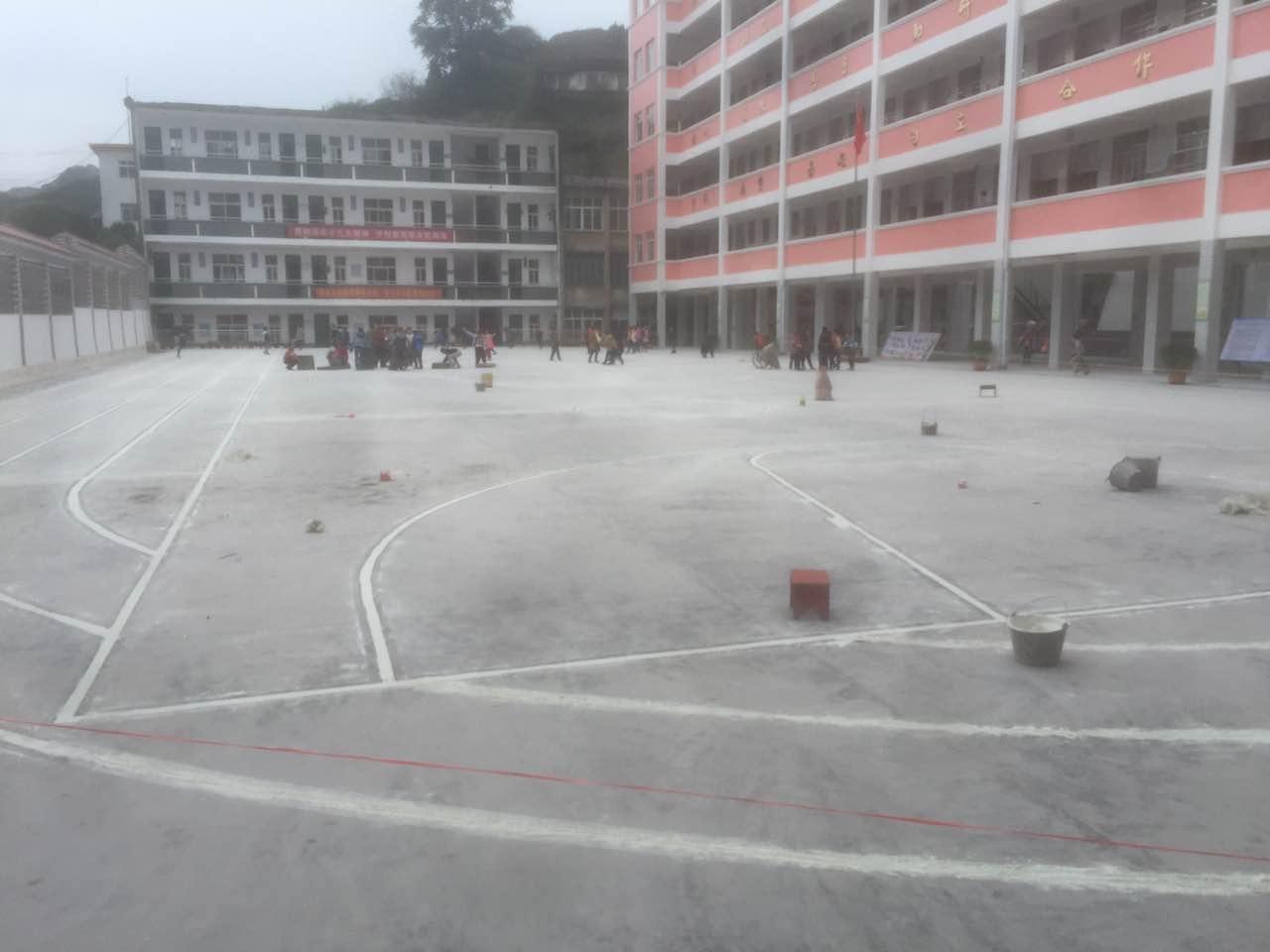 河池南丹县 篮球场地施工