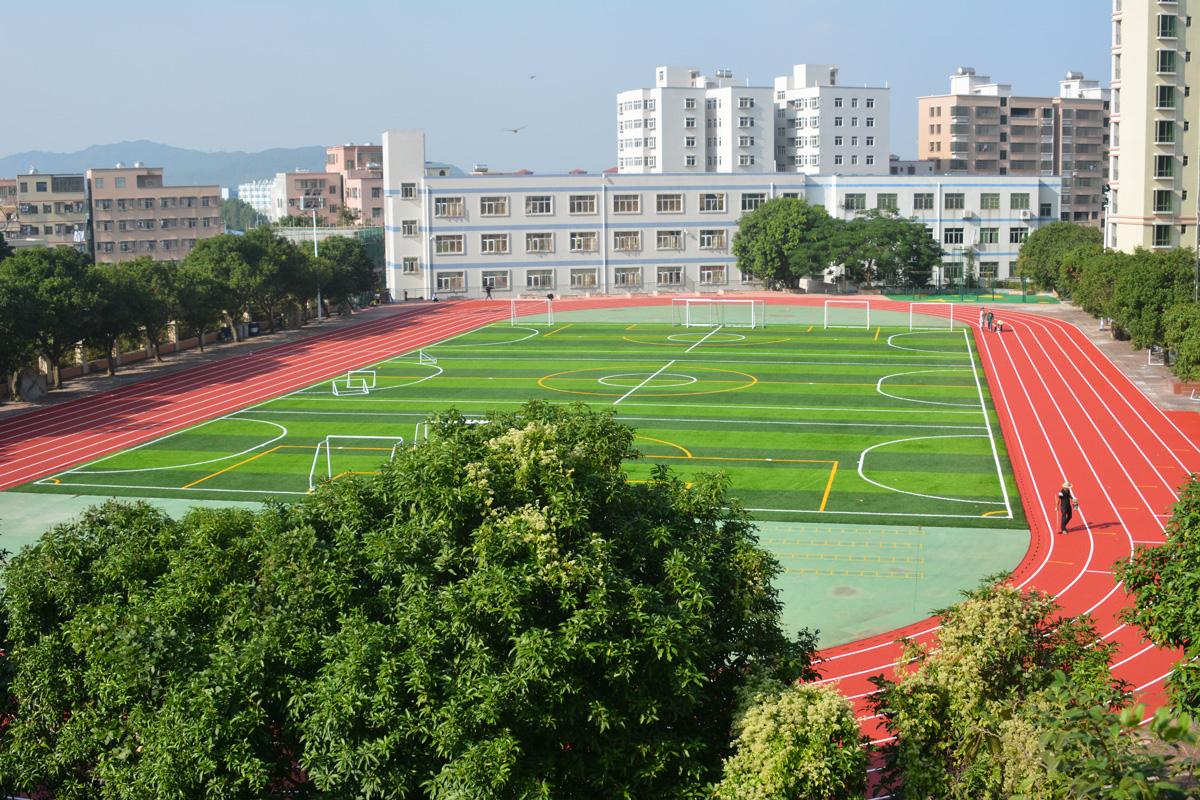 珠海市金湾区鱼林学校200米TPU塑胶跑道