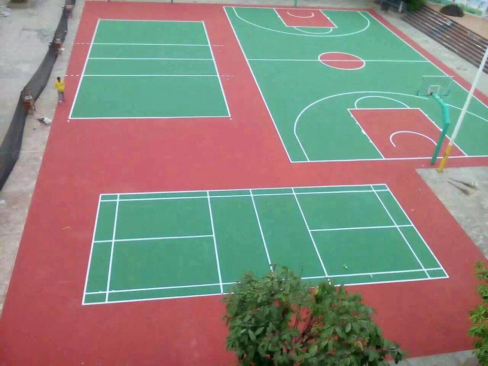 广西凭祥市一小学球场工程-丙烯酸排球场