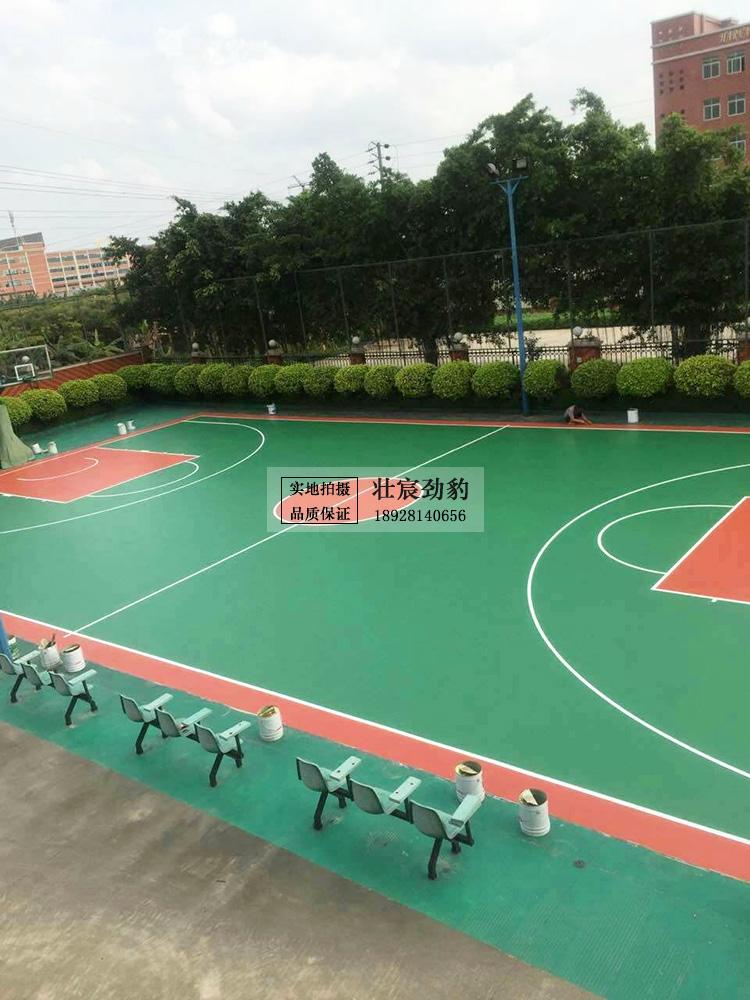 世界500强企业 哈福集团硅PU篮球场维修翻新项目