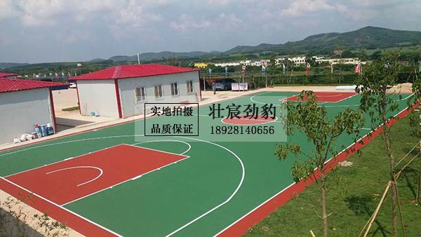 广西路桥工程集团有限公司 南宁江南区项目经理部 丙烯酸篮球场
