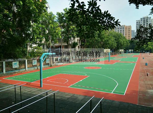 旧球场翻新改造——珠海市第一中等职业学校运动场丙烯酸篮球场、排球场工程