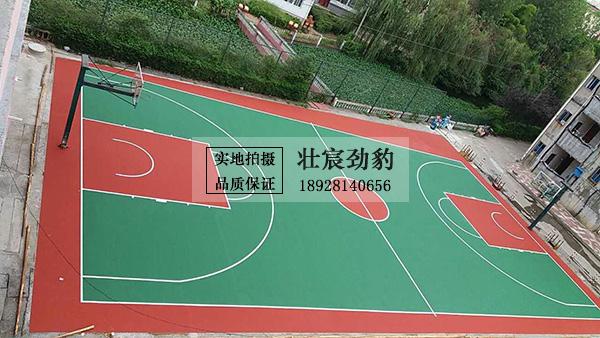 江西万安实验中学丙烯酸球场项目-宿舍区篮球场完工!