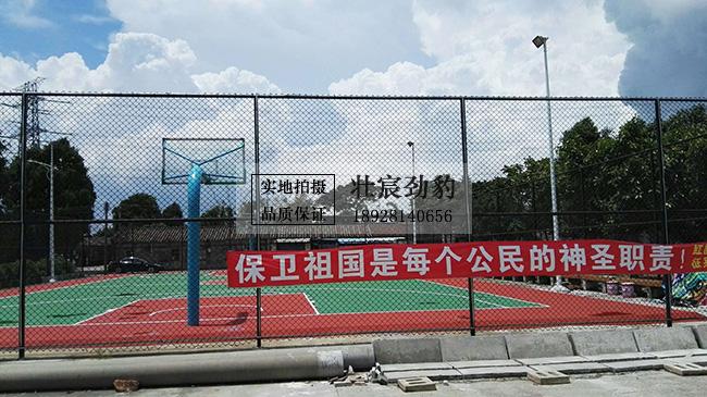 珠海市斗门区红旗镇湖东村村民健身广场-丙烯酸篮球场