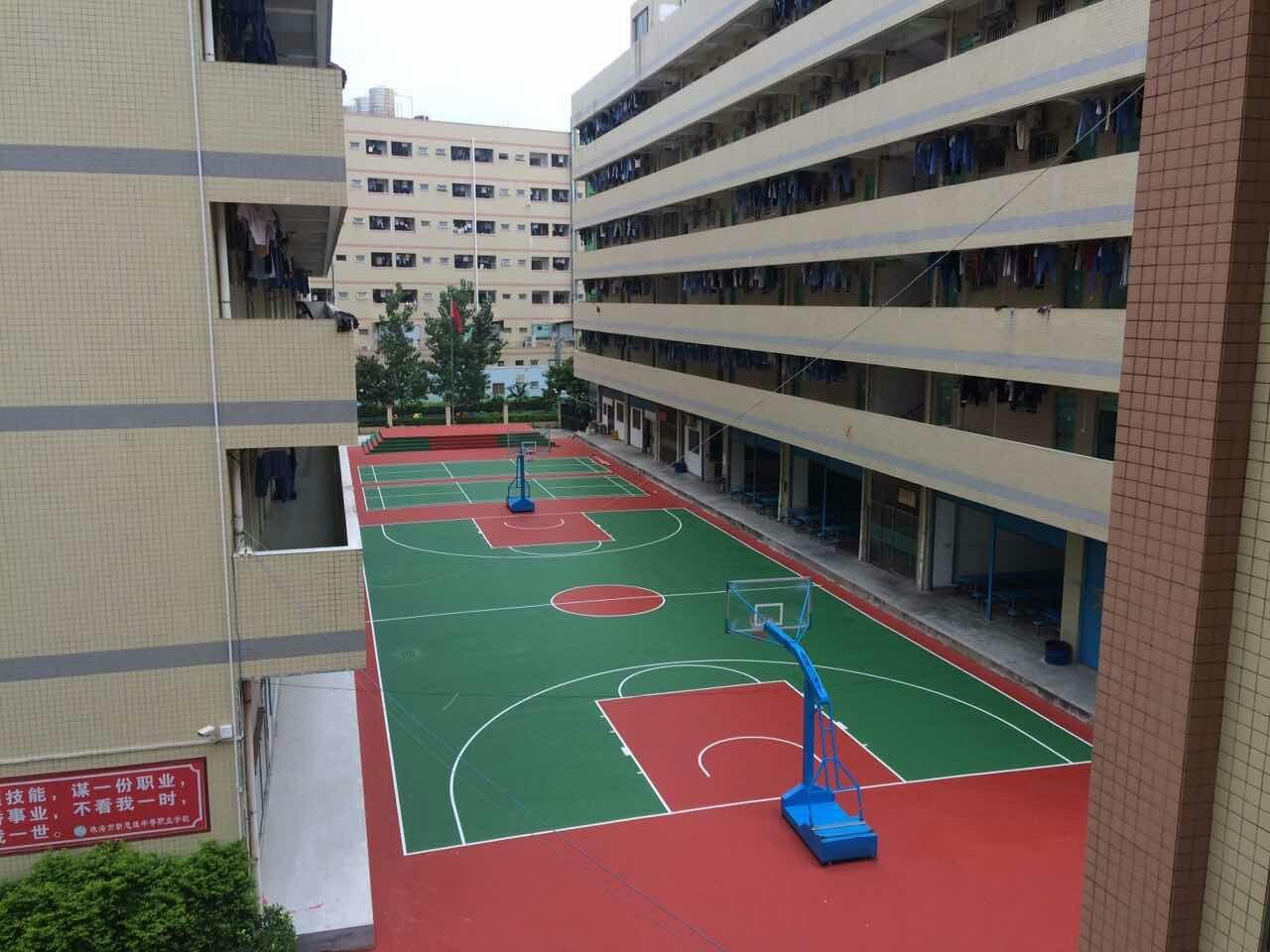 运动场改造-珠海新思维中等职业学校丙烯酸球场
