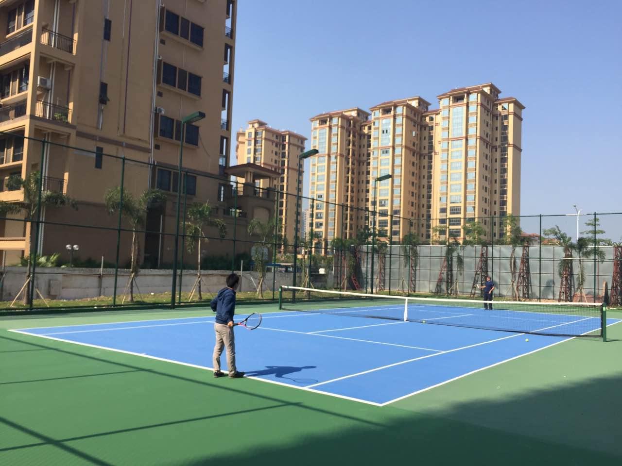 珠海市斗门区香水鸿门小区-丙烯酸网球场及配套设施工程