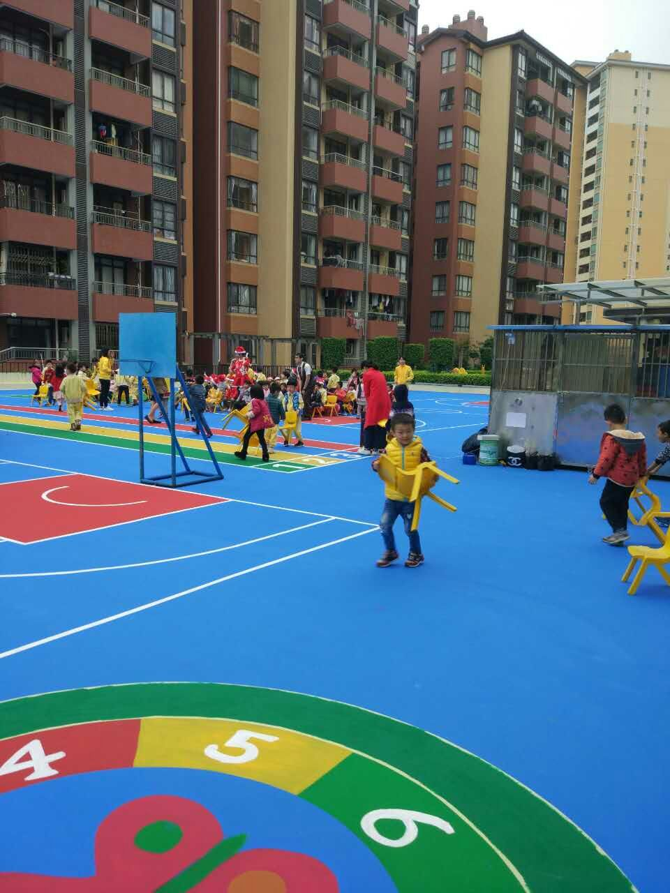 中山市三乡中心城幼儿园运动场-彩色丙烯酸地面