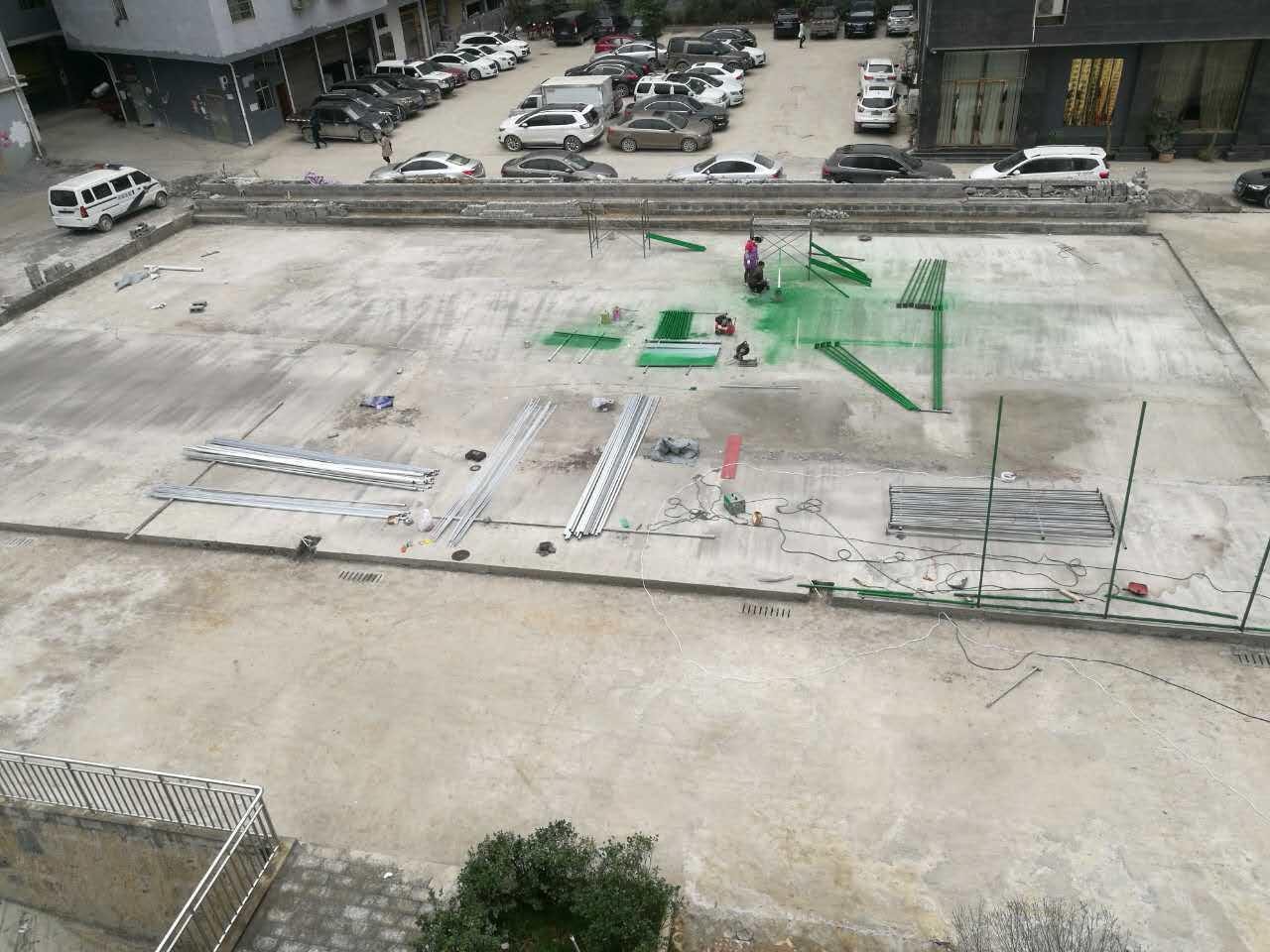 阳江室外运动球场施工-足球场、排球场、羽毛球场围网安装的区别!