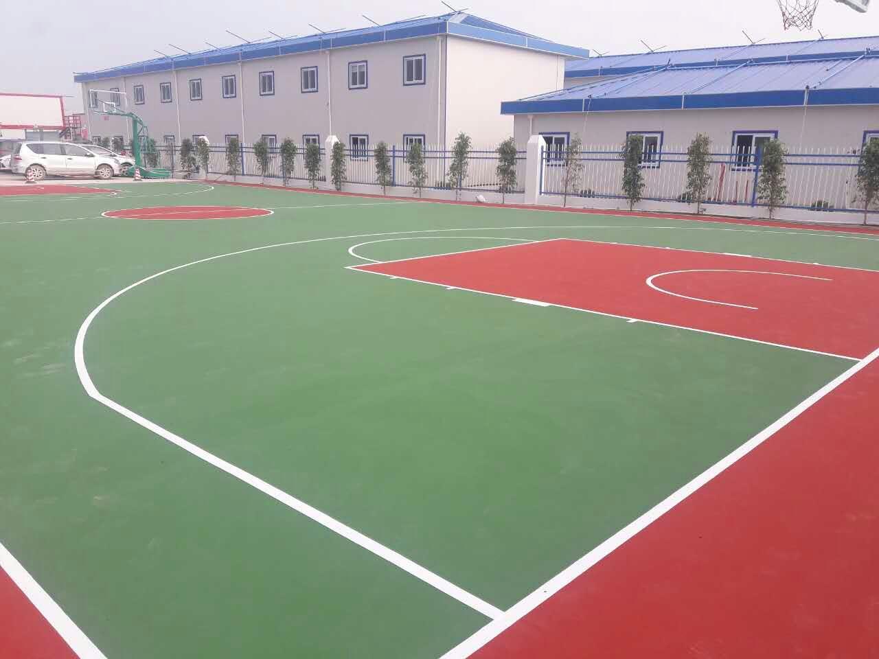 珠海格力港珠澳大桥人工岛项目部 丙烯酸篮球场