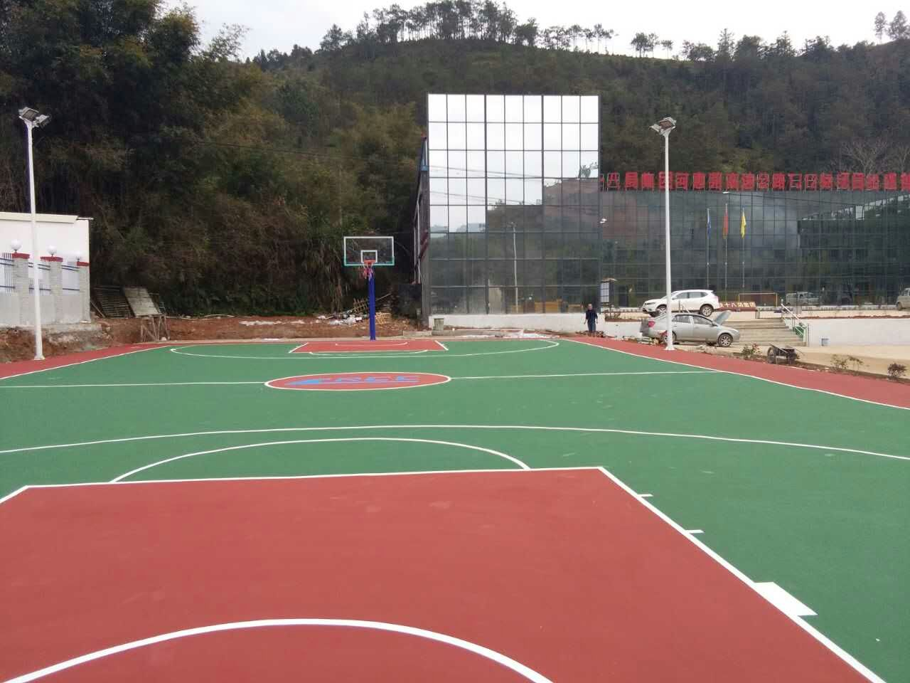 河惠莞高速公路项目部-室外丙烯酸篮球场 中铁十八局