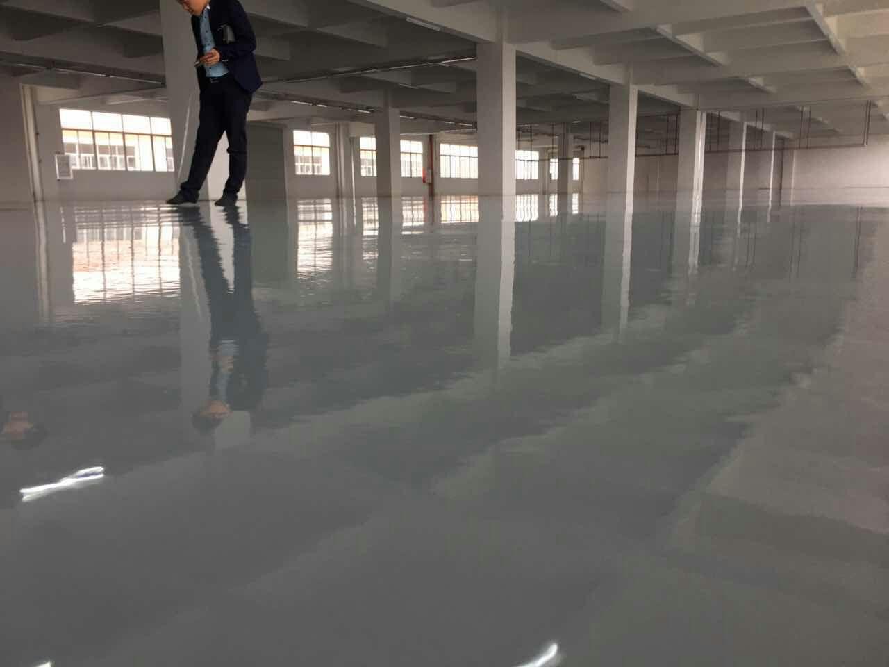 小榄昊城制衣厂车间环氧砂浆平涂地坪漆2600平方 洁地美环氧树脂地坪漆