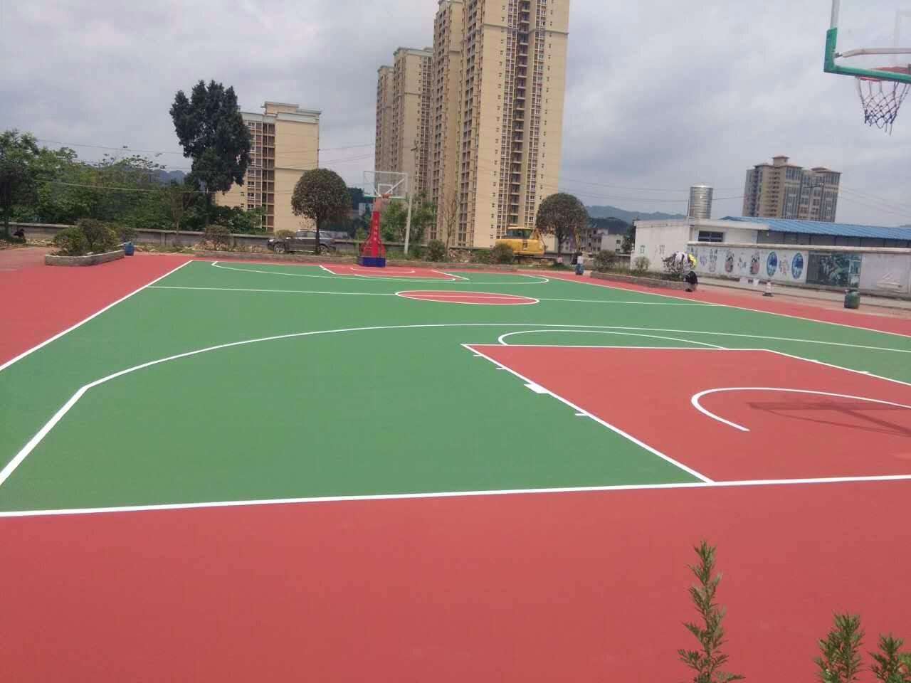 贵州省习水县东皇镇政府弹性丙烯酸篮球场地工程