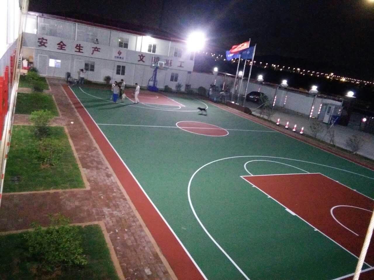珠海横琴新区高新技术产业园区市政基础设施工程 丙烯酸篮球场地工程