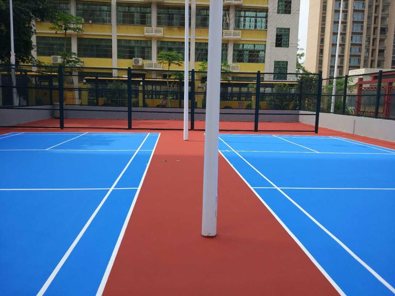 珠海香洲区鸿业社区健身广场 室外丙烯酸羽毛球场工程