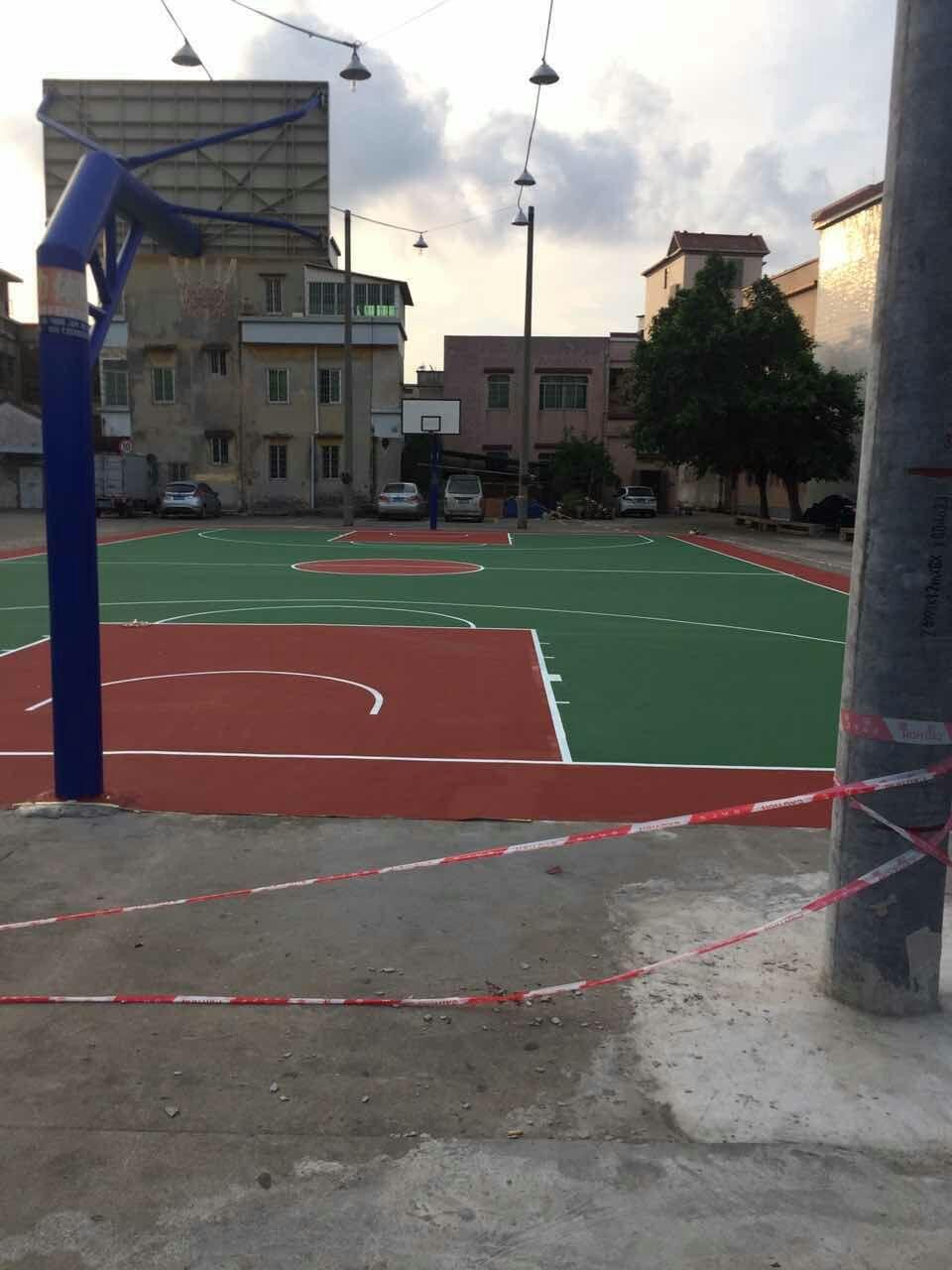 佛山市南海区新龙村村民健身工程 室外丙烯酸篮球场!