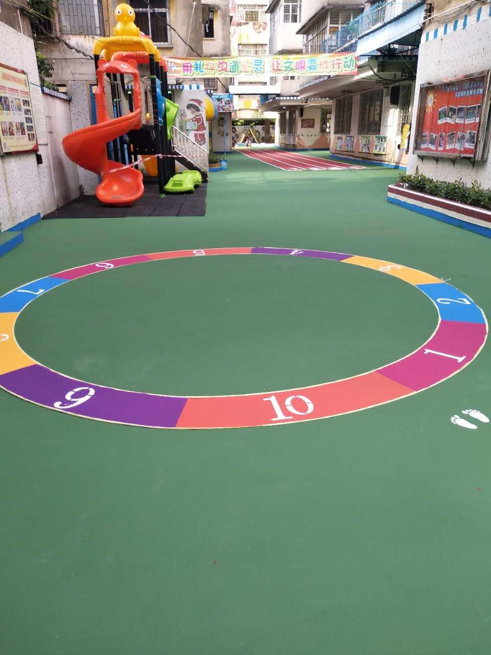 中山市石岐区商业幼儿园彩色地面绘画