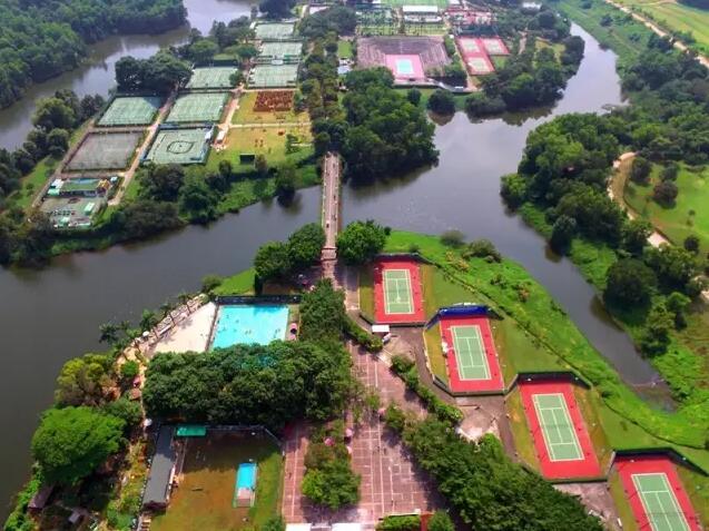 深圳观澜湖室外网球场地