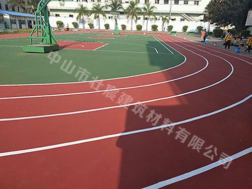 厦门康德小学运动场水性丙烯酸篮球场与跑道