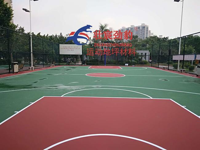 中山映晖湾公园篮球场施工完工