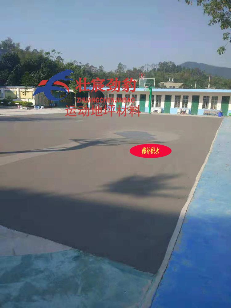 广西陆川县滩面镇上旺小学丙烯酸篮球场施工