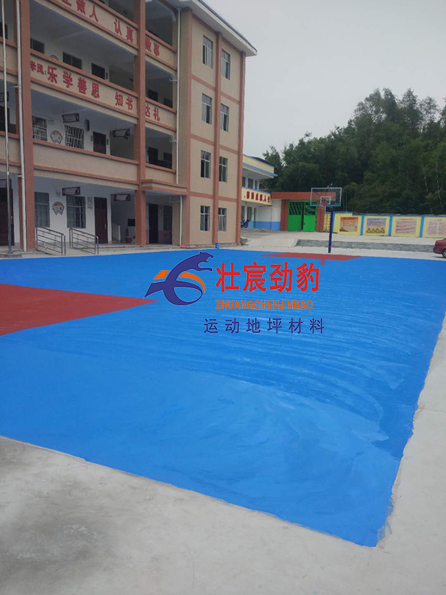 广西坡头小学壮宸建材篮球场材料施工方法