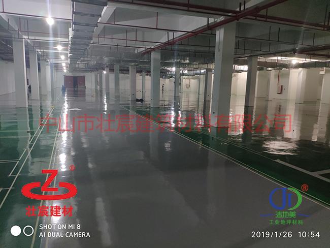珠海大型地下车库停车场约30000方环氧地坪漆完美竣工