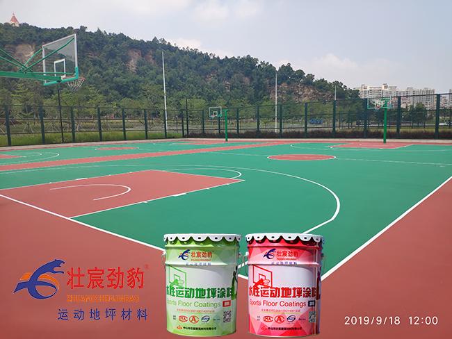 珠海湖心路口篮球场|珠海社区公园篮球场|珠海篮球场施工