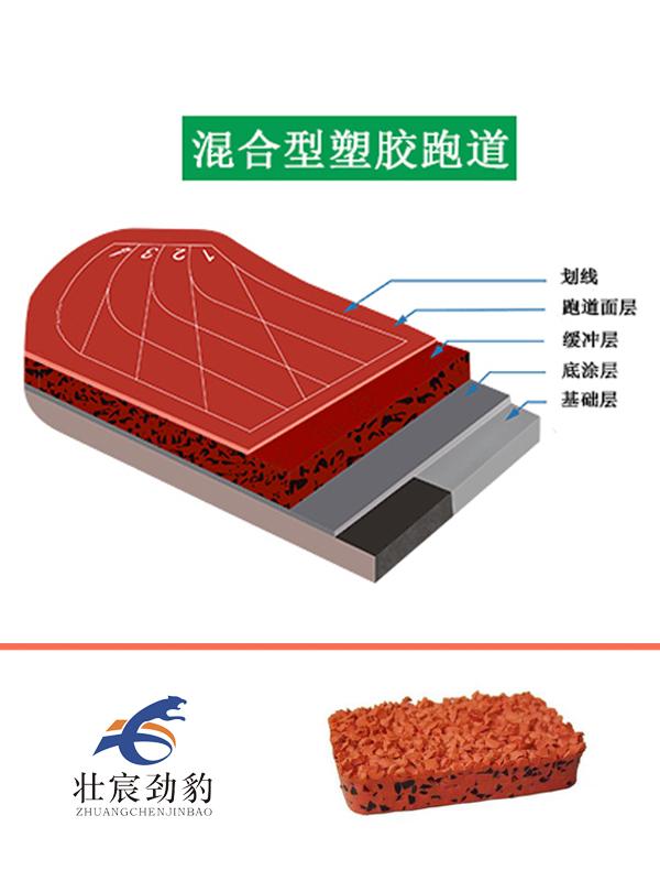 壮宸劲豹-混合型塑胶跑道施工